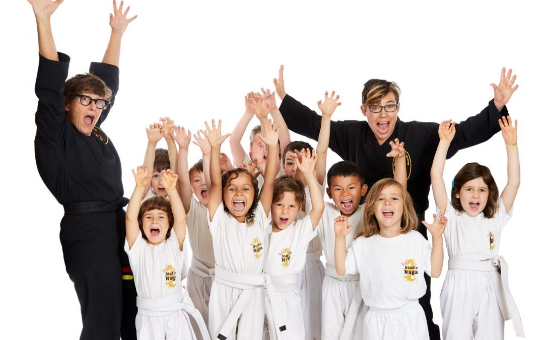 Kids and Adults in Martial Arts Uniform