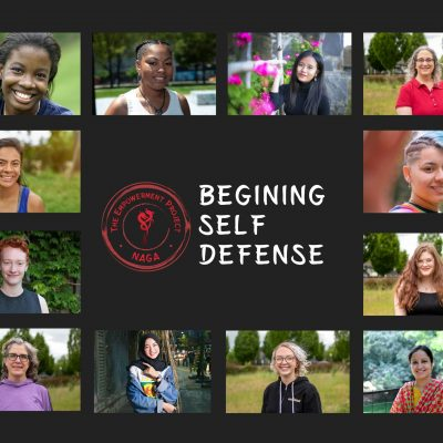 The beginning self-defense class featured Image with all people who identify as women.