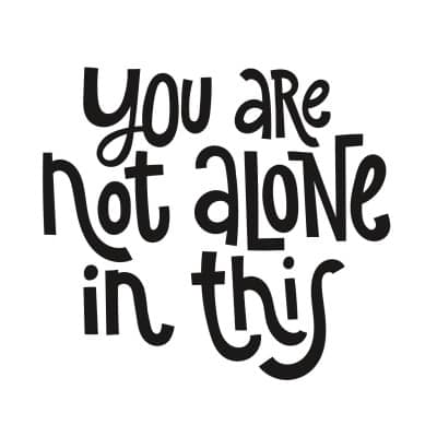 you are not alone in this graphic